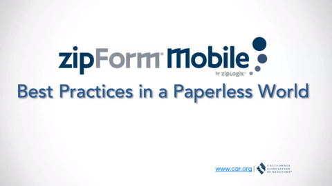 Fill Contracts Out on the Go with zipForm® Mobile – and go Paperless!