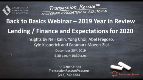2019 a Year in Review - Financing-Lending Options