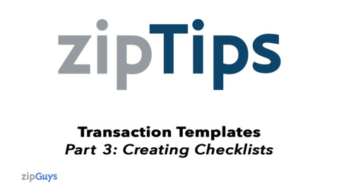 Creating a Checklist in your Templates