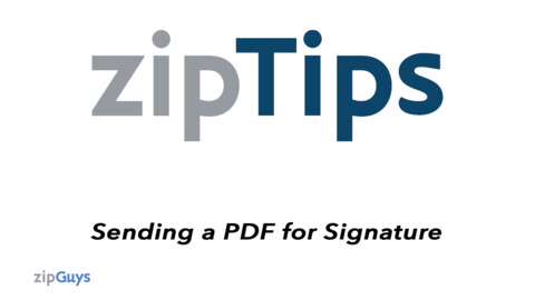 Sending PDF Documents for Digital Signature