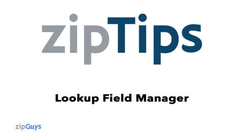 Using the Lookup Field Manager