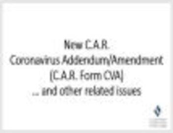 Coronavirus Addendum/Amendment March 23, 2020