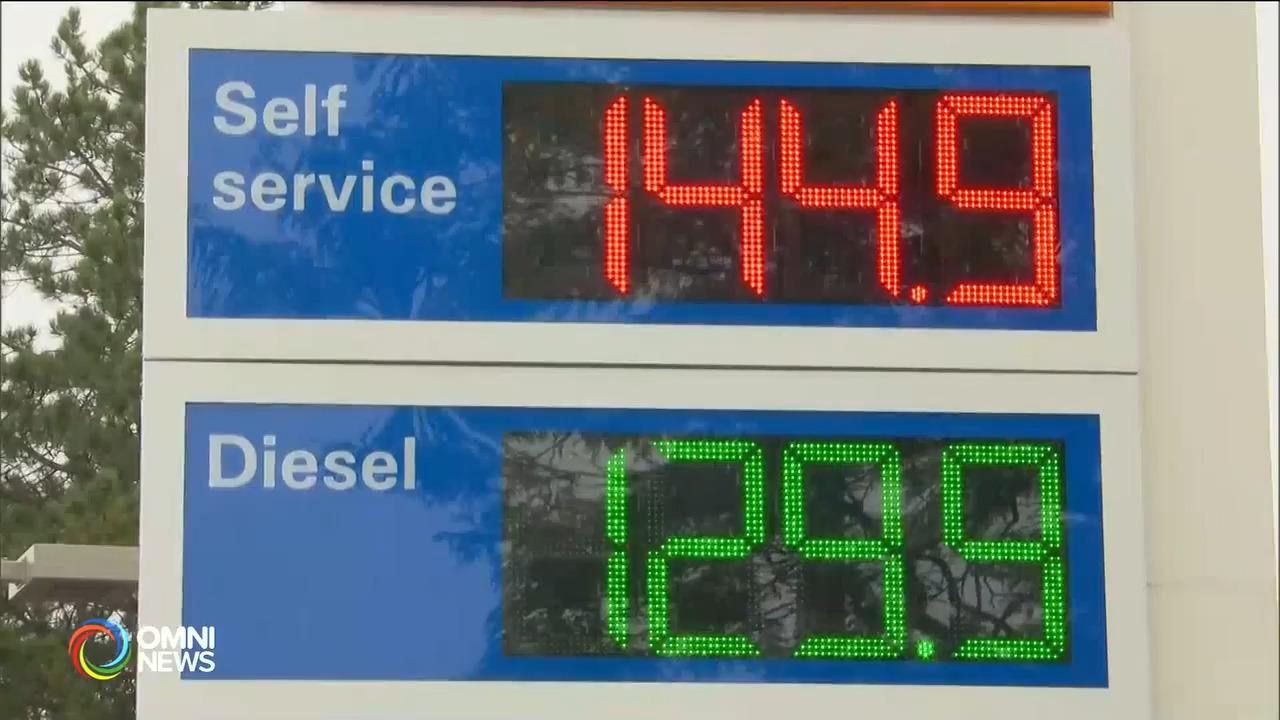 大多伦多地区汽油零售价持续攀升 — Oct. 07, 2021 (ON)