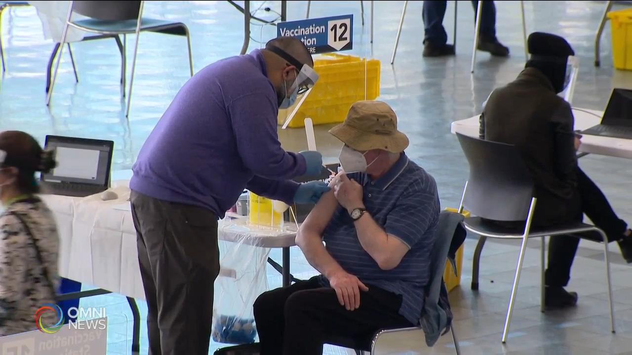 約克區46%成人已接種一劑疫苗 — May 06, 2021 (ON)