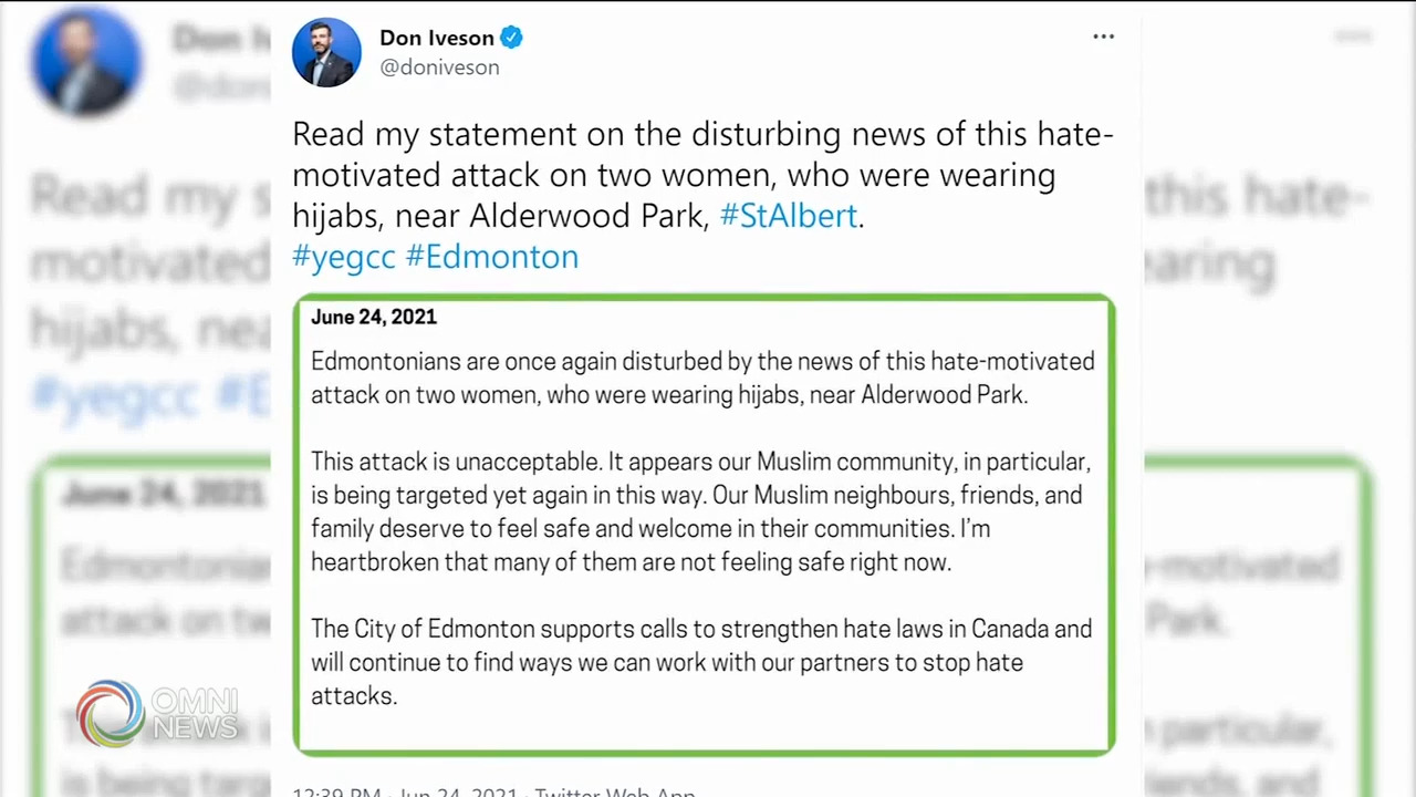 Hijab-wearing sisters attacked by Edmonton man with knife | OMNI News Arabic