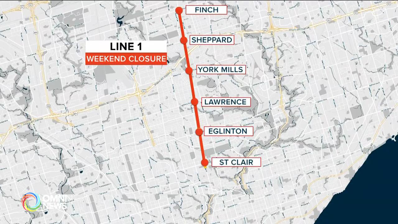 周末再有地鐵線停止服務 — Oct 22, 2021 (ON)