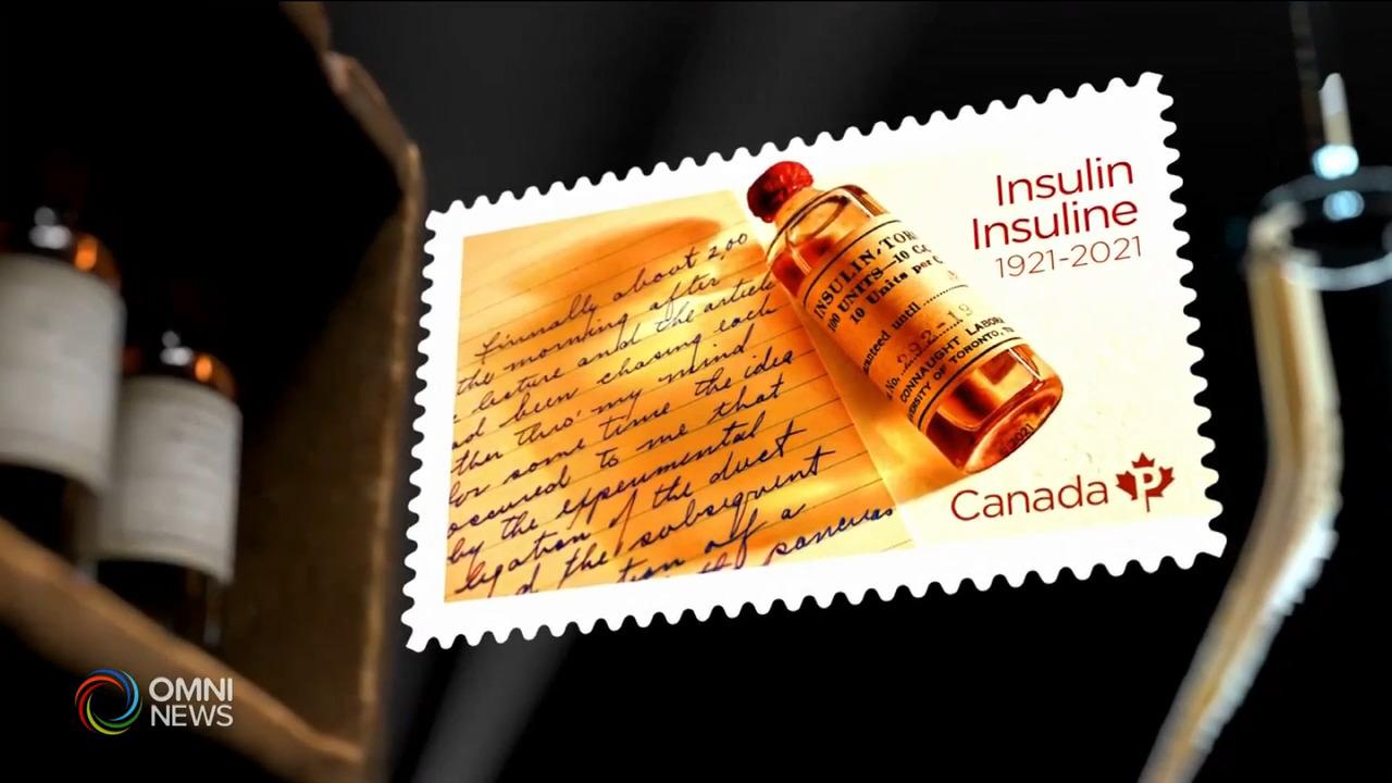 紀念郵票慶祝本國科學家發明胰島素一百周年 — Apr 15, 2021 (ON)