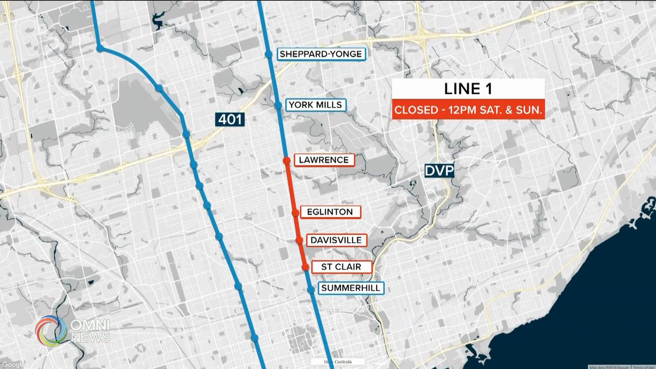 地鐵週末部分路段暫停服務 — May 07, 2021 (ON)