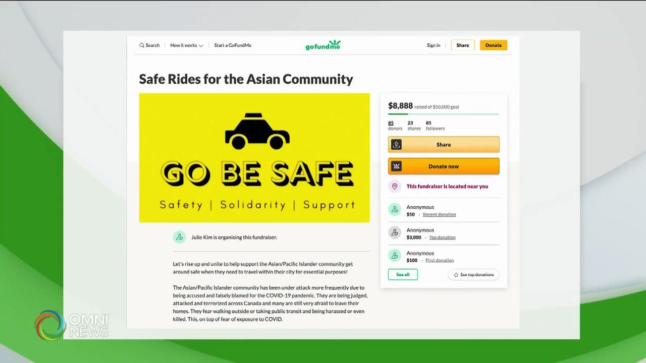 避免受歧視 有亞裔籌款乘搭付費汽車 — May 06, 2021 (ON)