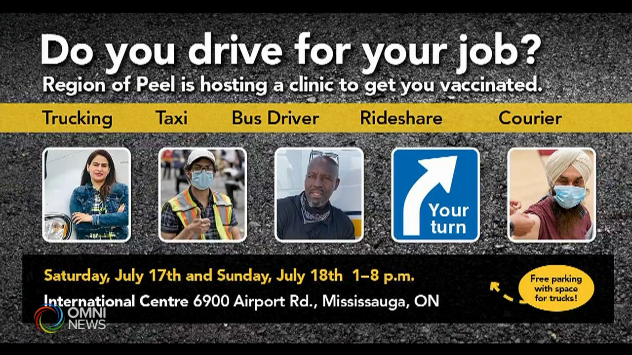 Peel targets vaccine clinic for truck drivers!