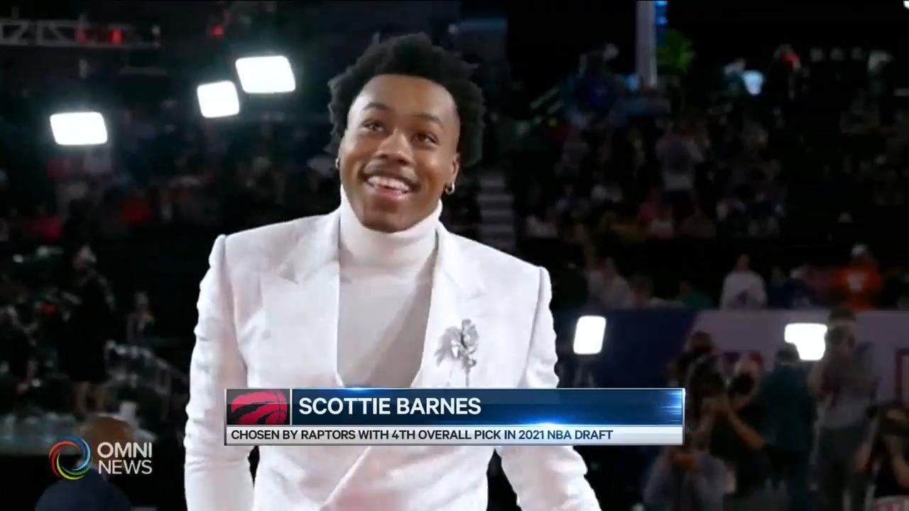 NBA選秀 多倫多猛龍選中Scottie Barnes — Jul 30, 2021 (ON)