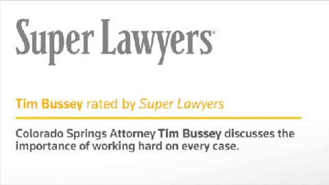 Timothy Bussey, Colorado Springs DUI Defense Attorney