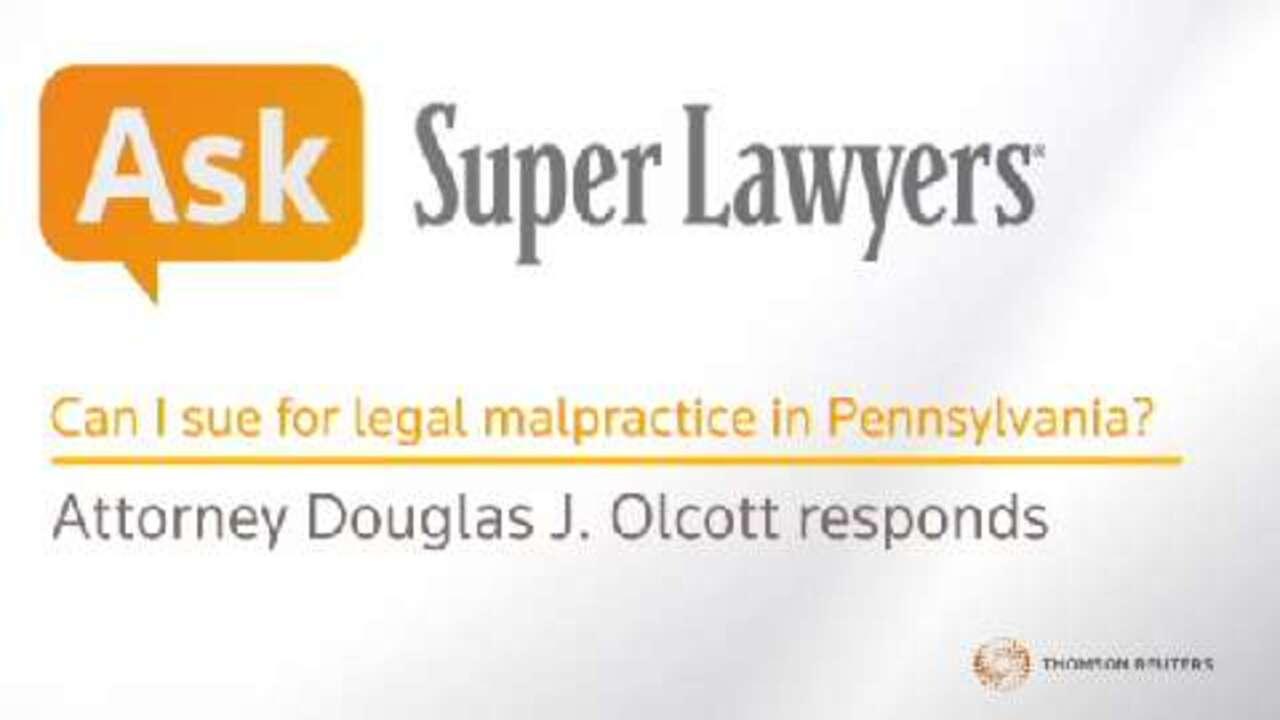 Douglas J. Olcott, Legal Malpractice Attorney- Super Lawyers