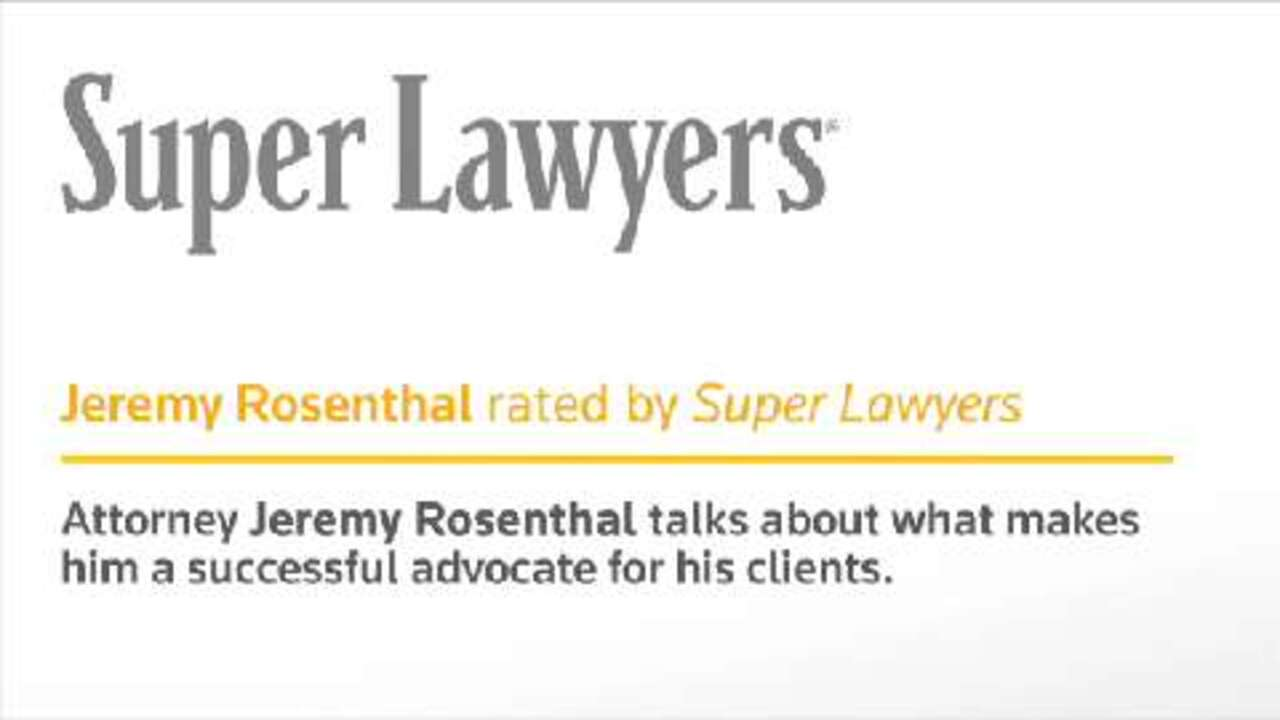 Jeremy Rosenthal, Denver Injury Attorney- Super Lawyers