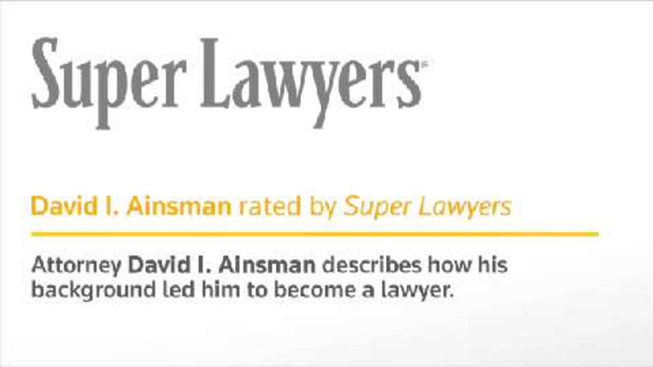 David Ainsman, Pittsburgh Injury & Accident Attorney