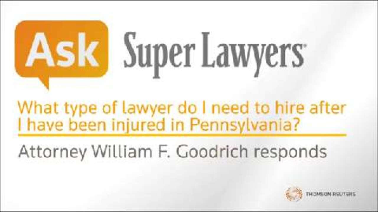 William Goodrich, Pittsburgh Injury Attorney- Super Lawyers