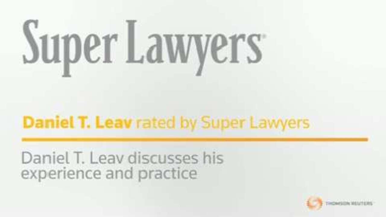 Dan Leav , New York Medical Malpractice Attorney - NY Super Lawyers