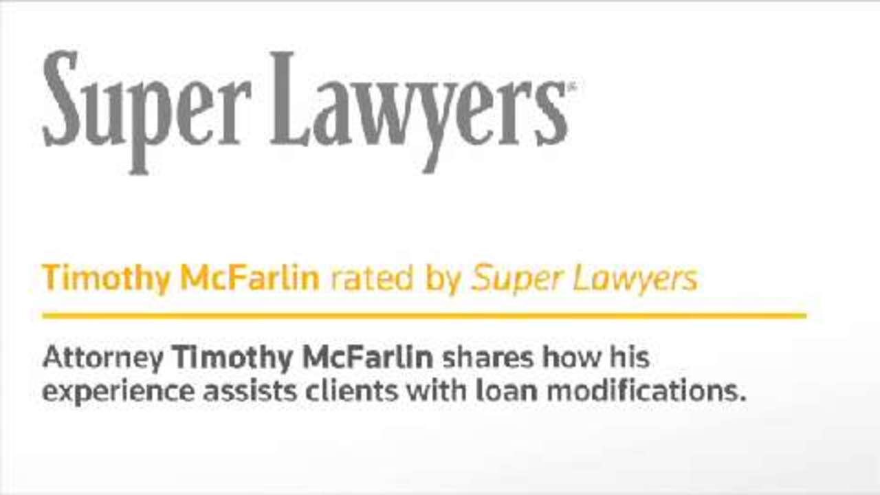 Timothy McFarlin, Irvine Bankruptcy Attorney- Super Lawyers