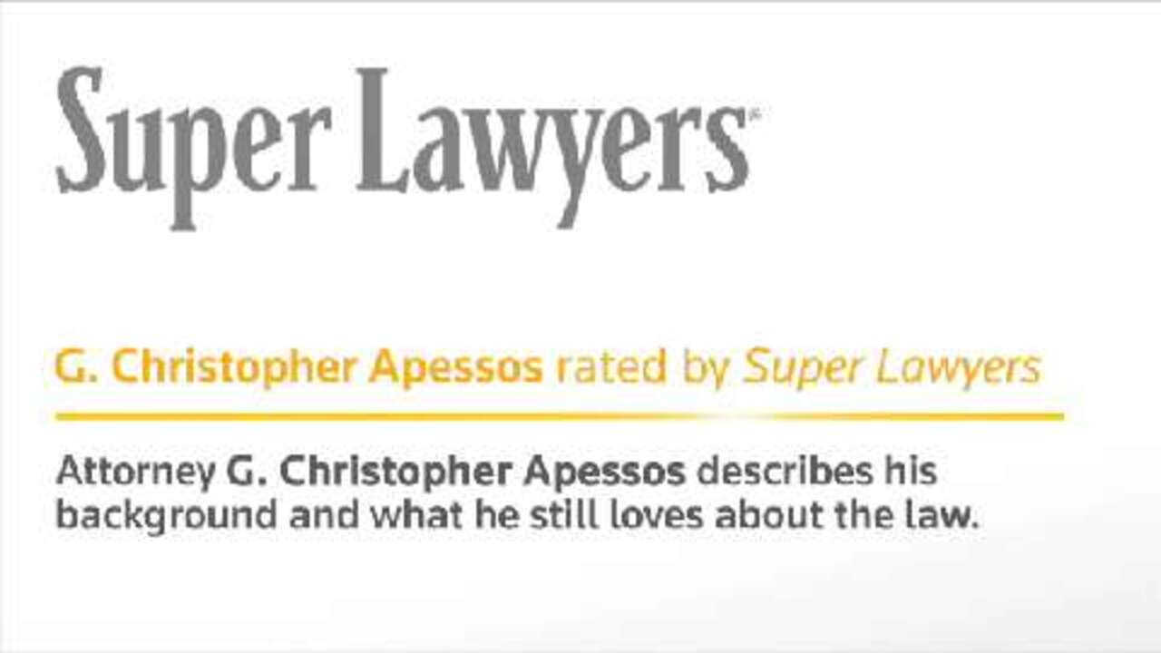Chris Apessos, Pittsburgh Accident Attorney - Super Lawyers