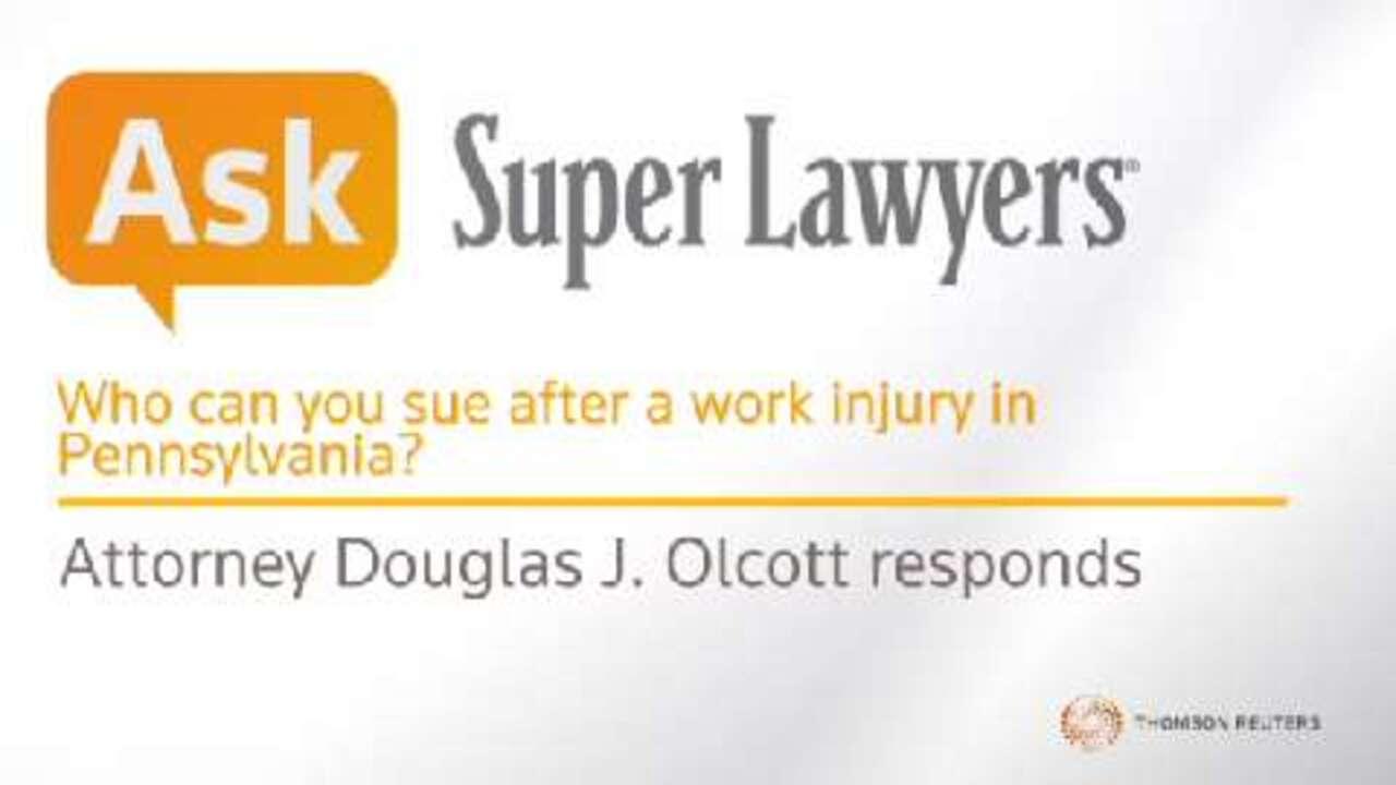 Douglas J. Olcott, Work Injury Attorney- Super Lawyers
