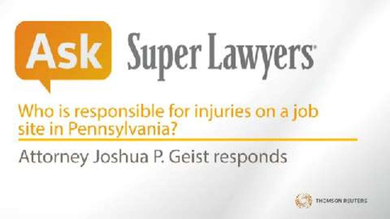 Joshua Geist, Pittsburgh Job Injury Attorney- Super Lawyers