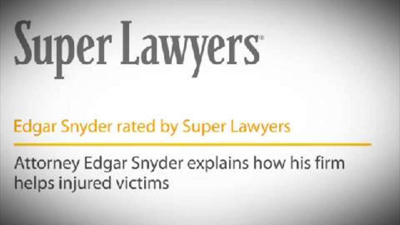 Edgar Snyder, Pittsburgh Personal Injury Attorney