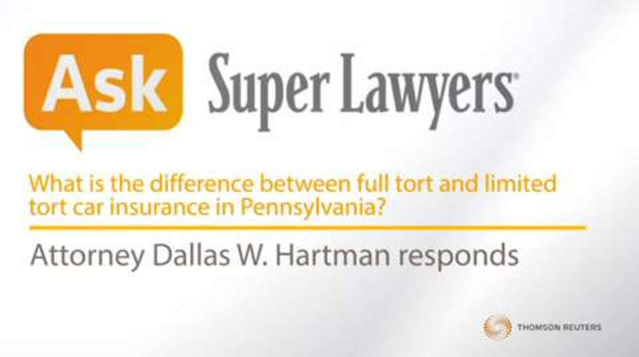 Difference Between Full Tort And Limited Tort Car Insurance?